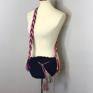 Wayuu Tribe Mini Blue Chila Crossbody Bag